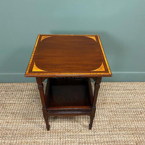 Stunning Victorian Inlaid Antique Mahogany Occasional Table (1 of 7)