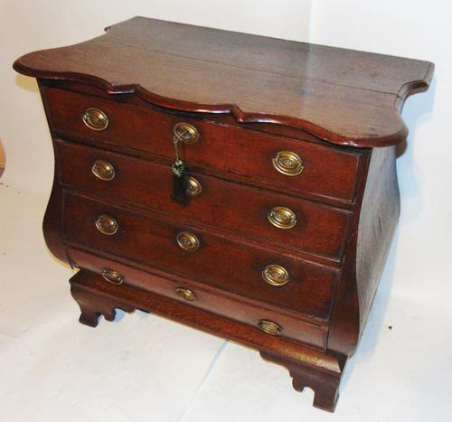 Dutch Oak Bombe Chest of Drawers (1 of 9)