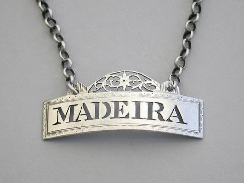 George III Silver Wine Label 'Madeira' by Phipps & Robinson, London, 1791 (1 of 6)