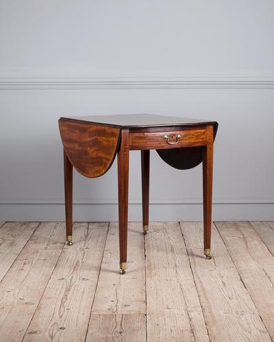 George III Oval Mahogany Pembroke Table (1 of 9)