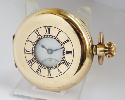 1930s Dreadnort Half Hunter Pocket Watch by Cyma (1 of 6)