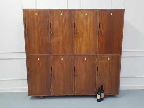 Vintage Wooden School Gym Lockers c.1950 (1 of 7)