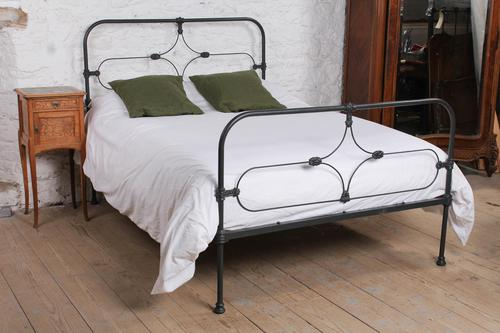 Attractive All Iron Irish Cottage Style Bed (1 of 9)