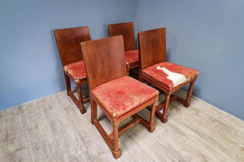 Set of 4 Heals Oak Dining Chairs (1 of 7)
