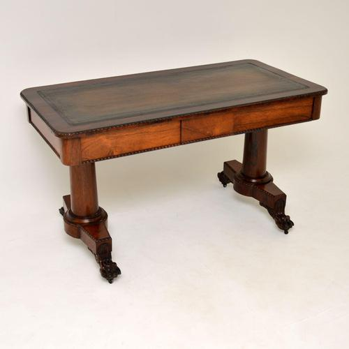 Antique William IV Rosewood Desk / Writing Table (1 of 15)