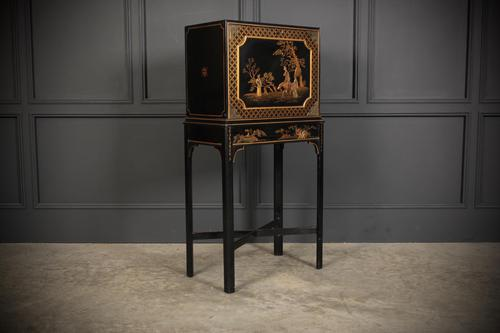 Black Japanned Chinoiserie Cabinet on Stand (1 of 12)