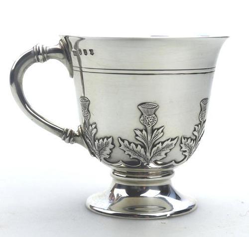 Fine & Rare Scottish Solid Silver Small Tankard by Hamilton & Inches c.1922 (1 of 9)