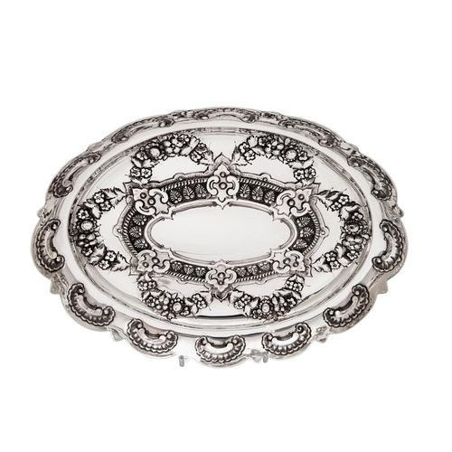 """Antique Victorian Sterling Silver 8"""" Dish / Bowl 1882 (1 of 8)"""