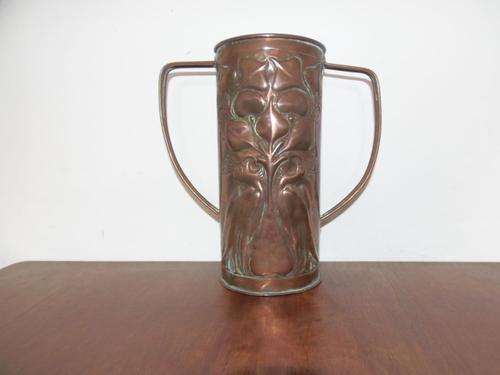 Arts & Crafts Beaten Copper Vase (1 of 12)