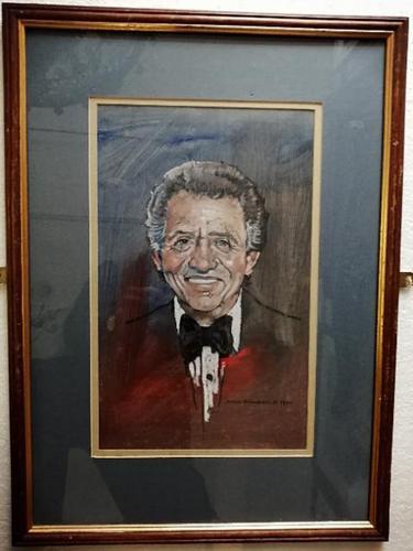 Pastel & Watercolour Portrait of the singer Tony Bennett (1 of 3)