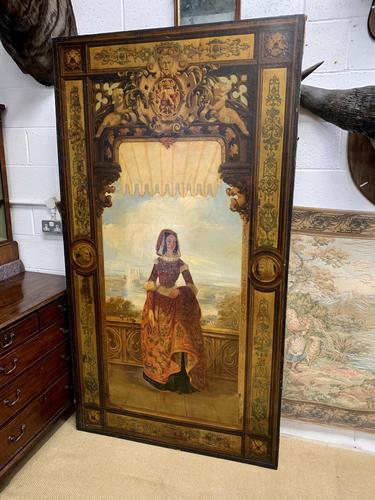Huge 19th Century French Oil on Canvas Portrait (1 of 10)