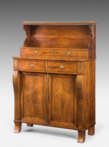 Attractive Regency Period Rosewood Side Cabinet (1 of 5)