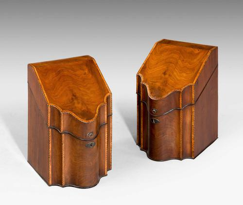 Pair of George lll Period Knife Boxes (1 of 1)