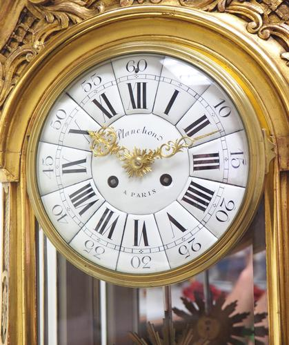 Wow! Incredible French Gilt Mantel Clock Visible Pendulum Glass Panels 8 Day Mantle Clock (1 of 9)