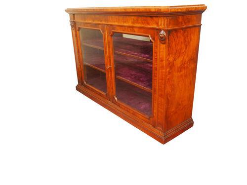 Walnut Credenza Bookcase (1 of 2)