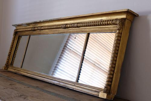 Gilt Framed Three Section Overmantle Mirror (1 of 19)