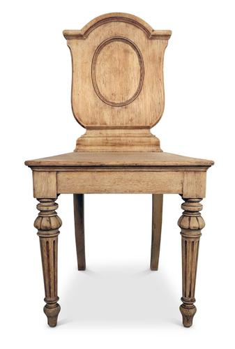 Stripped Oak Hall Chair (1 of 4)