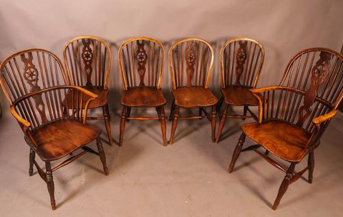 Set of 6 Kitchen Windsor Chairs Ash & Elm Thames Valley (1 of 21)