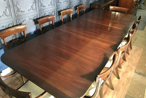Mahogany Dining Table & Set of 10 Regency Style Chairs (1 of 19)