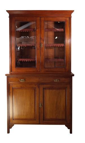 Glazed Mahogany Bookcase (1 of 8)