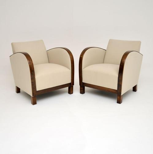 Pair of Swedish Art Deco  Satin  Birch Armchairs (1 of 7)