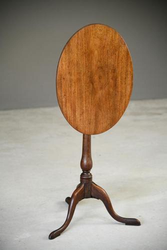 Mahogany Oval Tripod Table (1 of 12)