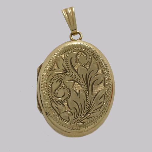 Victorian Locket 9ct Gold Floral Engraved Photo Locket Hallmarked Birmingham 1899 (1 of 5)