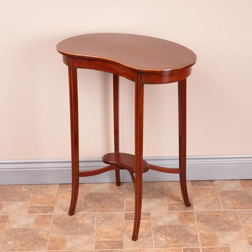 Edwardian Inlaid Mahogany Kidney Shape Occasional Table (1 of 15)