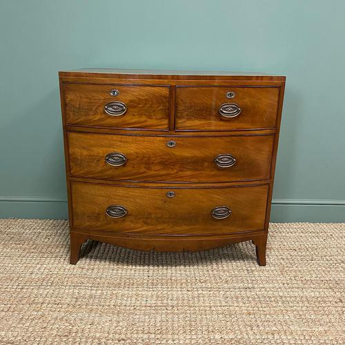 Small Bow Fronted Regency Antique Chest of Drawers (1 of 6)