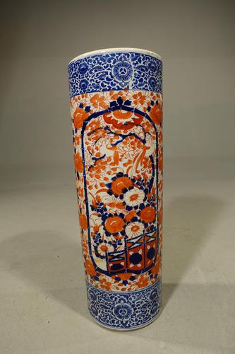 Attractive Mid 19th Century Cylindrical Imari Porcelain Stick Stand (1 of 5)