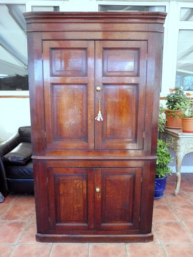 Country Oak Formal Corner Cupboard c.1770 (1 of 10)