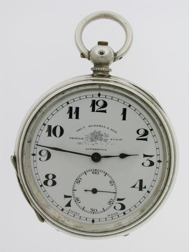 Thomas Russell Silver Open Face Pocket Watch  Swiss 1900 (1 of 6)