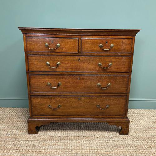 Period Oak Georgian Antique Chest of Drawers (1 of 6)