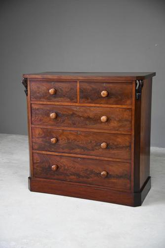 Antique Victorian Mahogany Chest of Drawers 228443 (1 of 12)