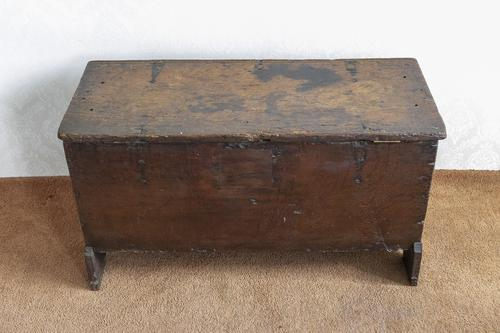 Early 17th Century Oak Plank or Sword Chest (1 of 6)