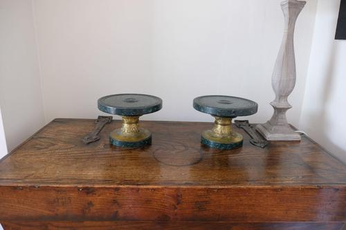 Pair of Early 20th Century Faux Marble & Brass Stands (1 of 15)