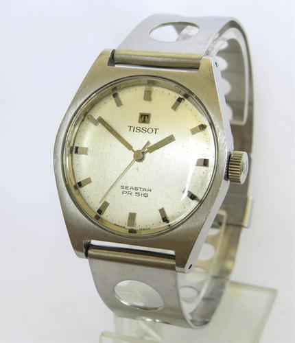 Gents 1968 Tissot Seastar Pr516 Watch with Rally Strap (1 of 6)