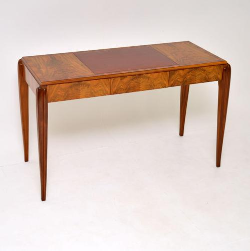 Art Deco Vintage Walnut Writing Table / Desk by McIntosh (1 of 16)