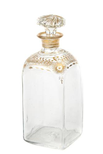 Unusual Antique Gilt Decorated Decanter (1 of 5)