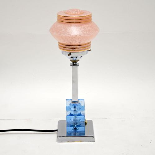 1960's Vintage Art Deco Style Table Lamp (1 of 7)