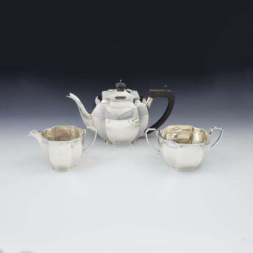 Art Deco Sterling Silver Tea Set Mappin & Webb 1932 (1 of 8)
