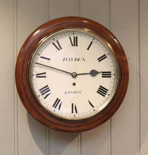 Light Mahogany Fusee Dial Clock (1 of 7)