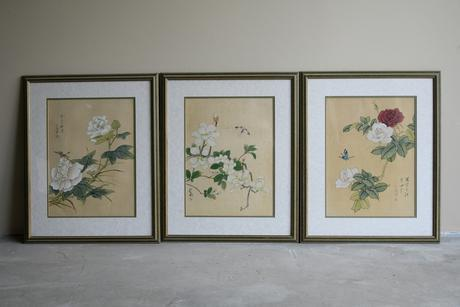 3 x Chinese Botanical Watercolours (1 of 12)