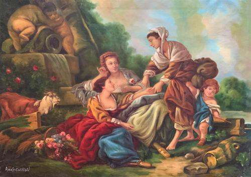 After Amos Cassioli - Large 20th Century Oil on Canvas Painting (1 of 12)