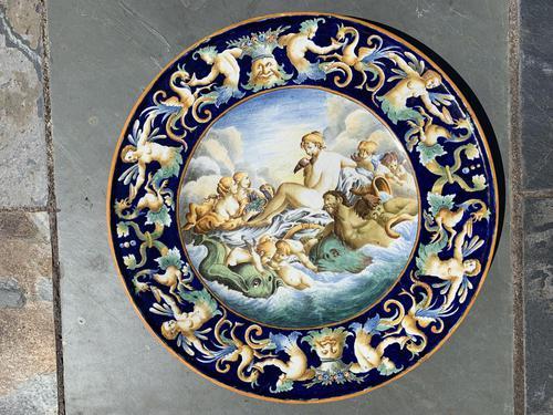 Italian Faience Urbino Style Charger (1 of 32)