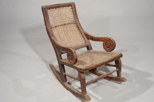Early 20th Century Child's Canework Rocking Chair (1 of 3)