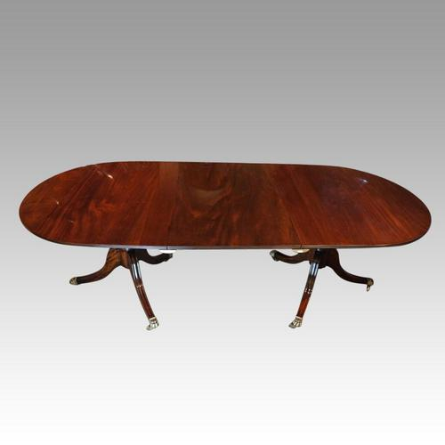 Antique Mahogany Pedestal Dining Table (1 of 9)