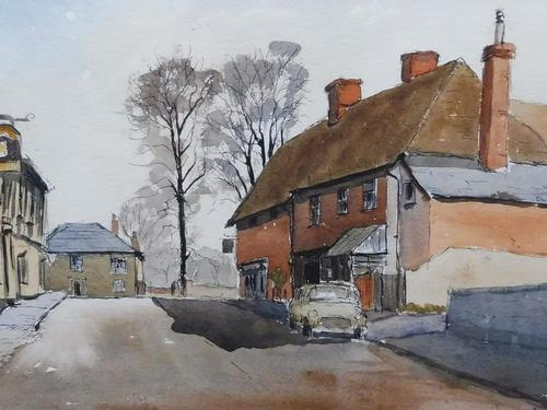 Watercolour and ink Dedham Listed artist Ronald Birch (1 of 10)