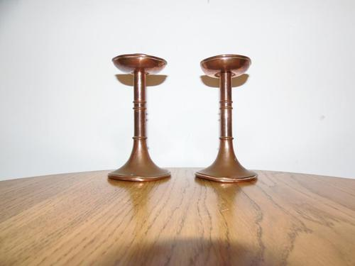 Pair of Copper Arts & Crafts Candlesticks (1 of 8)