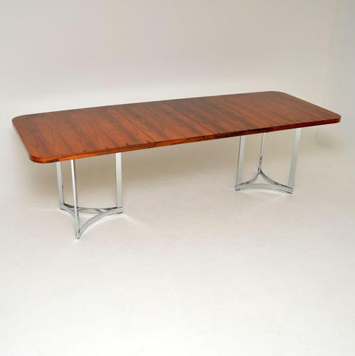 Merrow Associates Rosewood & Chrome Dining Table by Richard Young (1 of 14)